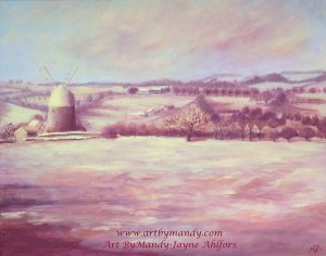 Just Another Winters Tale, Heage Windmill,Derbyshire, ArtistMandy-JayneAhlfors,October2013